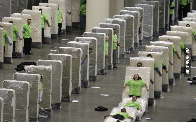 A normal day in mattress factory