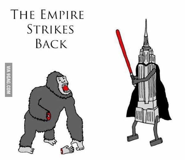 The empire stikes back