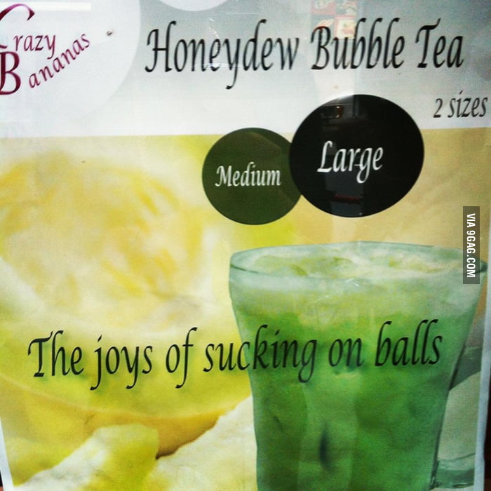 In the window of a bubble tea shop