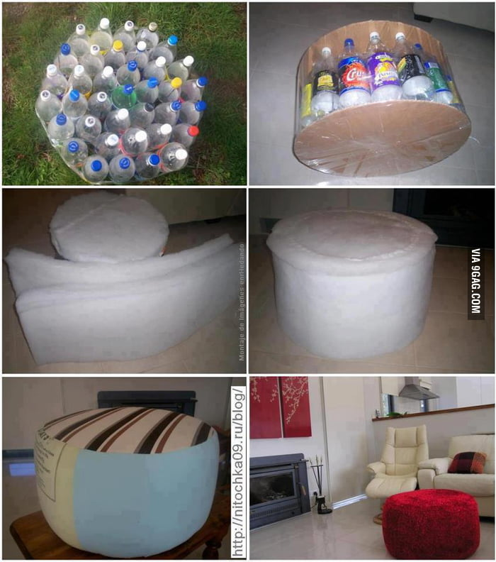 An interesting way of recycling plastic bottles