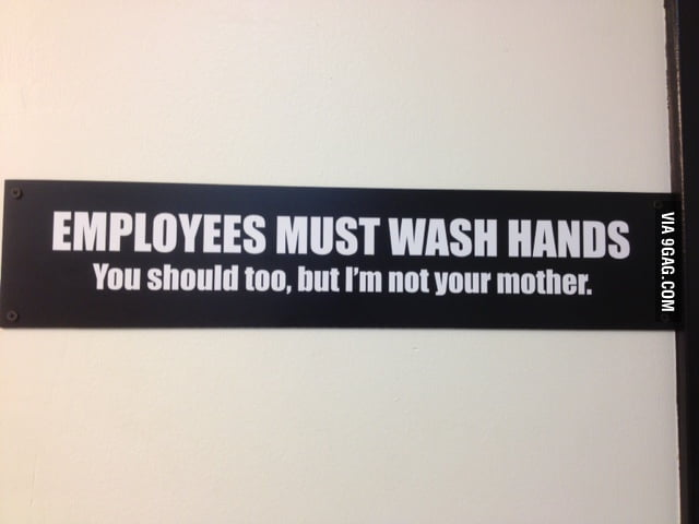 Employees must wash hands. You should too, but...