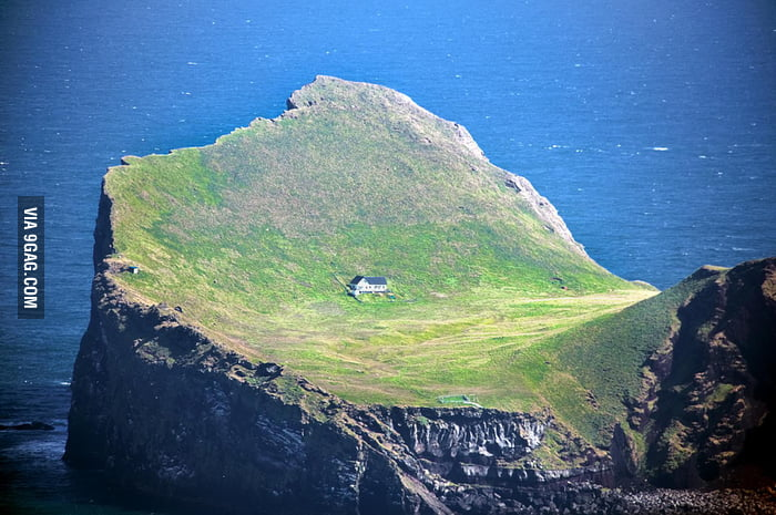 Imagine you live in this house, on this island, in Iceland.