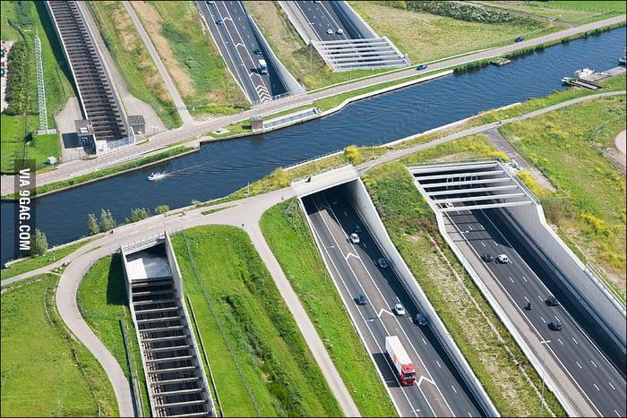 Amazing Underwater highway in Netherlands