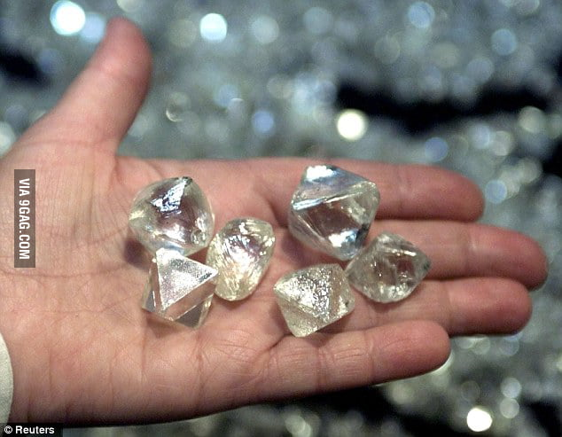Some diamonds found in Popigai crater
