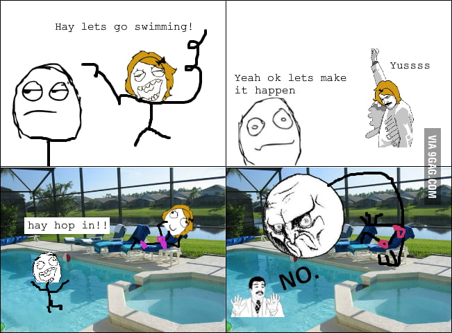 Every time I go swimming with my girlfriend.