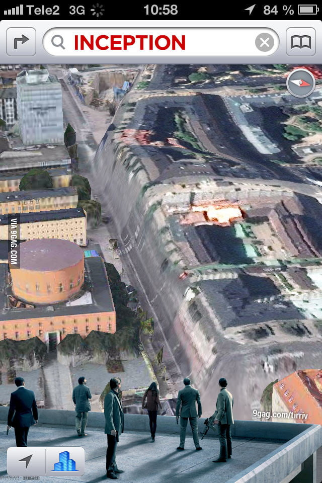 INCEPTION in Apple Maps iOS 6