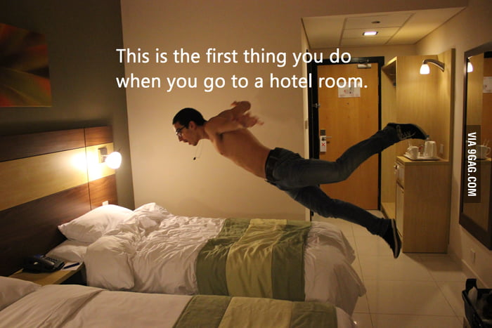 Hotel beds are amazing