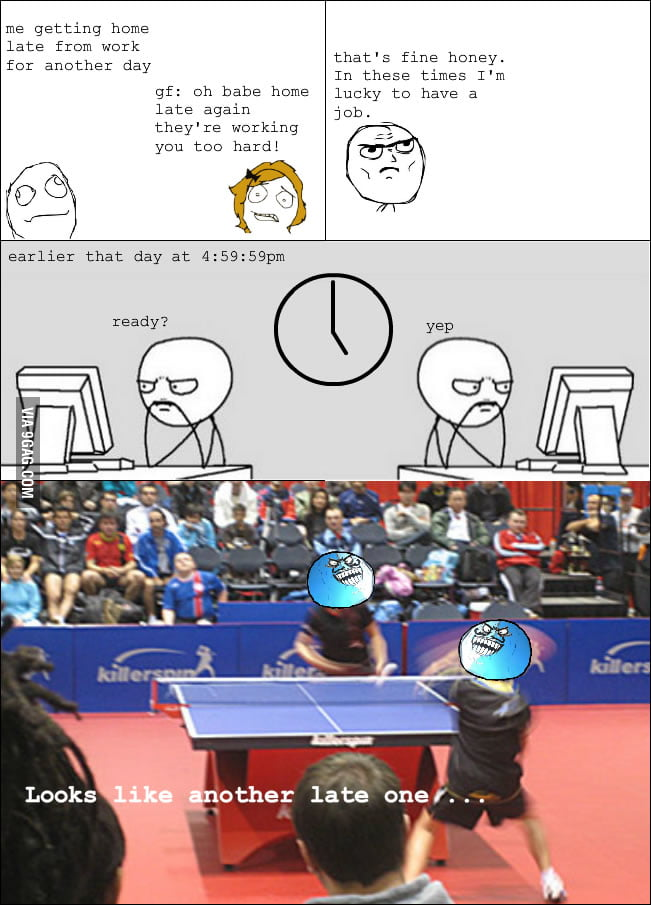People with table tennis tables at work understand this.
