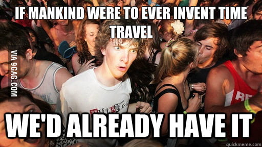 It's always tricky to think about time travel.
