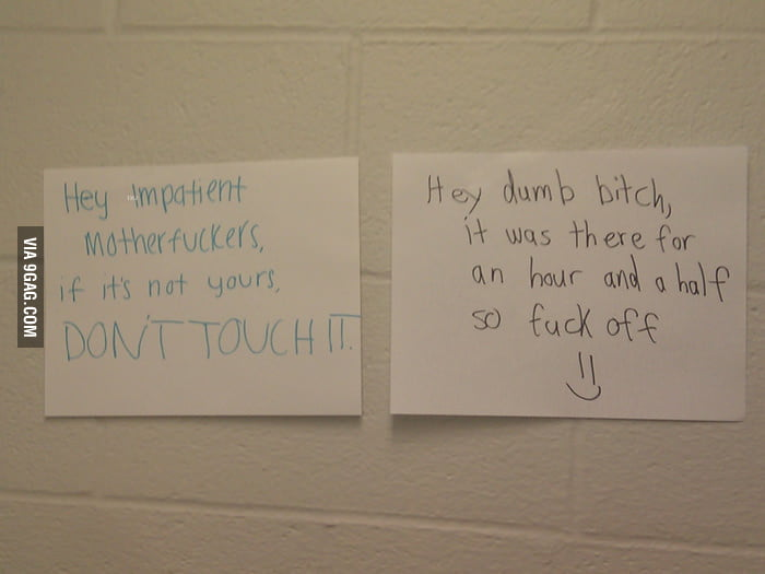 So shit is going down in my dorm's laundry room.