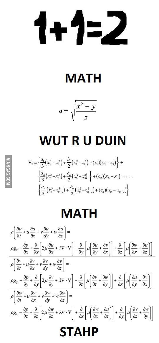 Math, stahp!