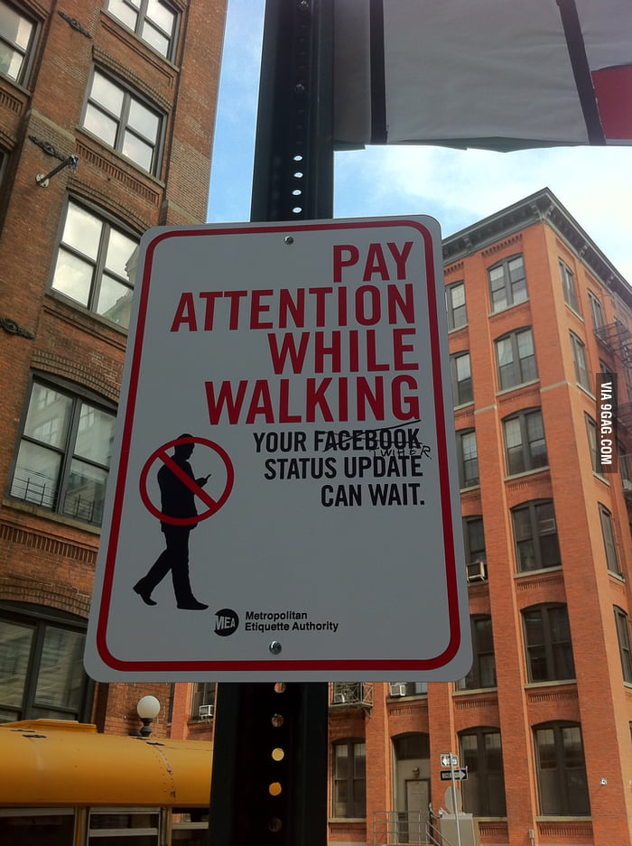 Your Twitter/Facebook status update can wait.