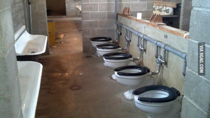 Just a military latrine.