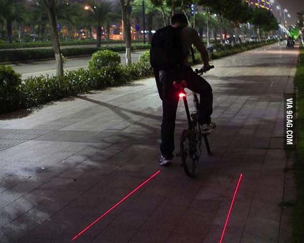 Bicycle Laser Lane