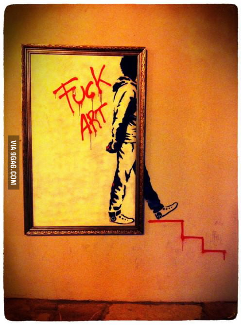 I'm sick of contemporary art, so I'm leaving you right here