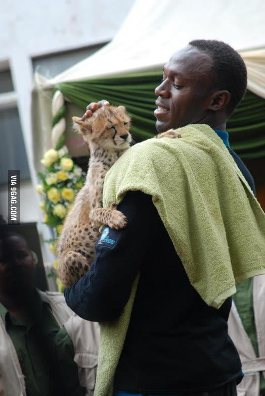 Usain Bolt and his practice partner