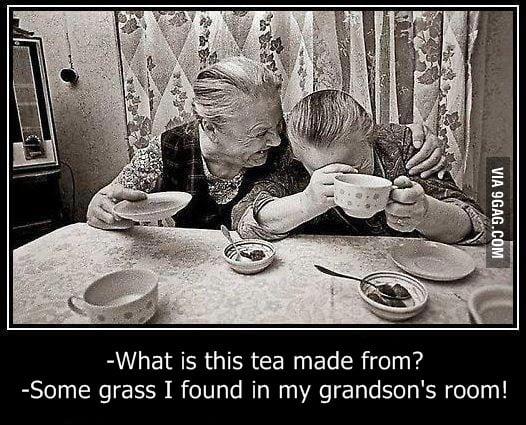 Weed tea for grandma's