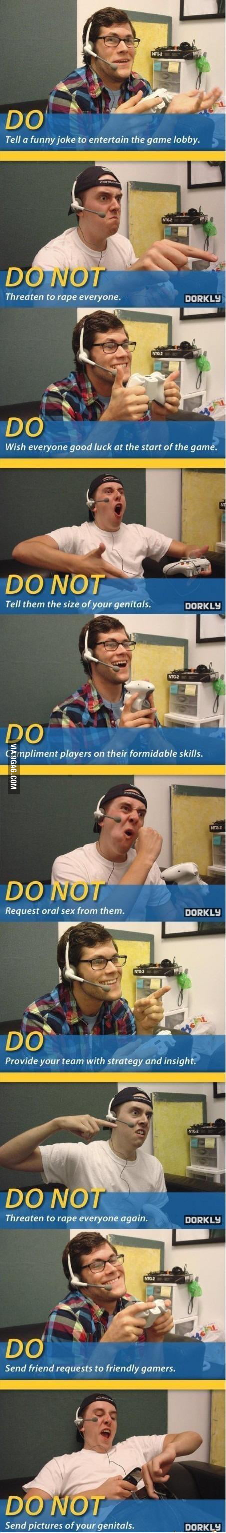 Online game rules