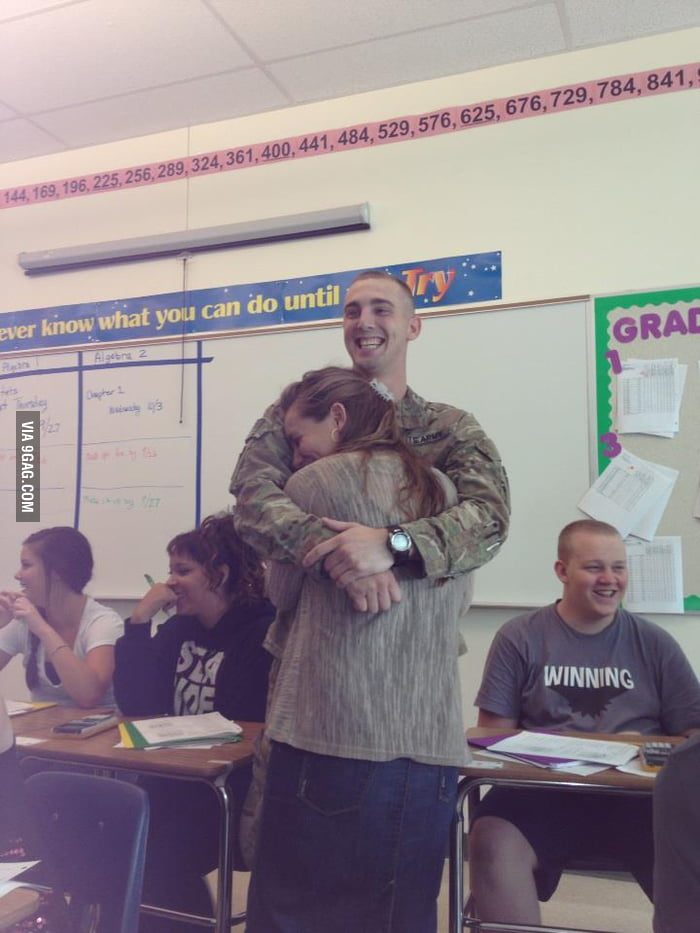 Teacher's bf came home and surprised her in the class