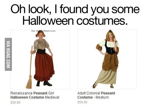 I found you some Halloween costumes