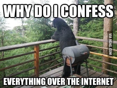 Deep confession bear