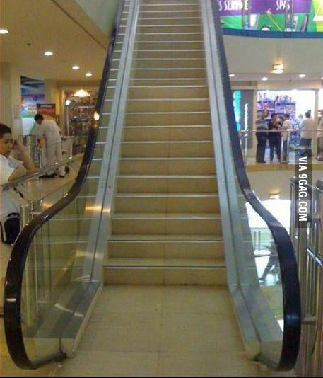 Oh let's take the electric stairs, wait...