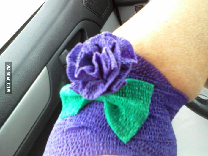 Donated blood, they made a flower.