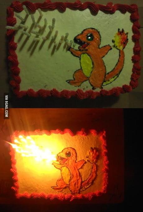 Magnificent Charmander Birthday Cake 9Gag Funny Birthday Cards Online Elaedamsfinfo
