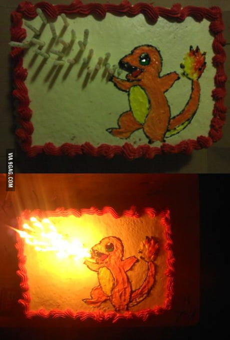 Astounding Charmander Birthday Cake 9Gag Funny Birthday Cards Online Alyptdamsfinfo