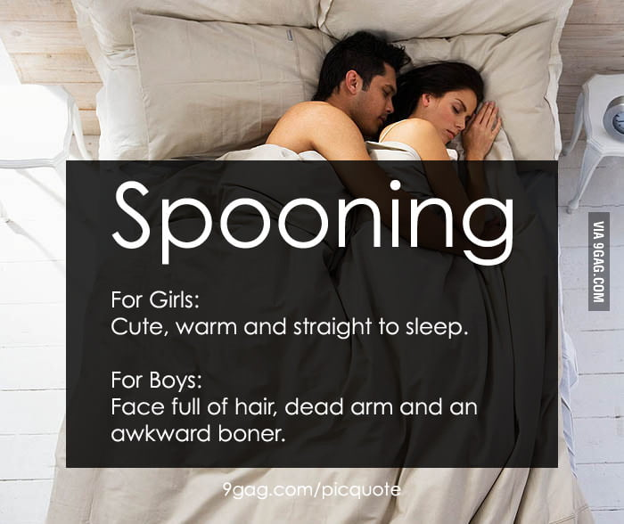 Spooning: Difference between girls and boys