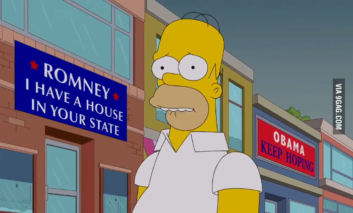 The Simpsons on the 2012 election.