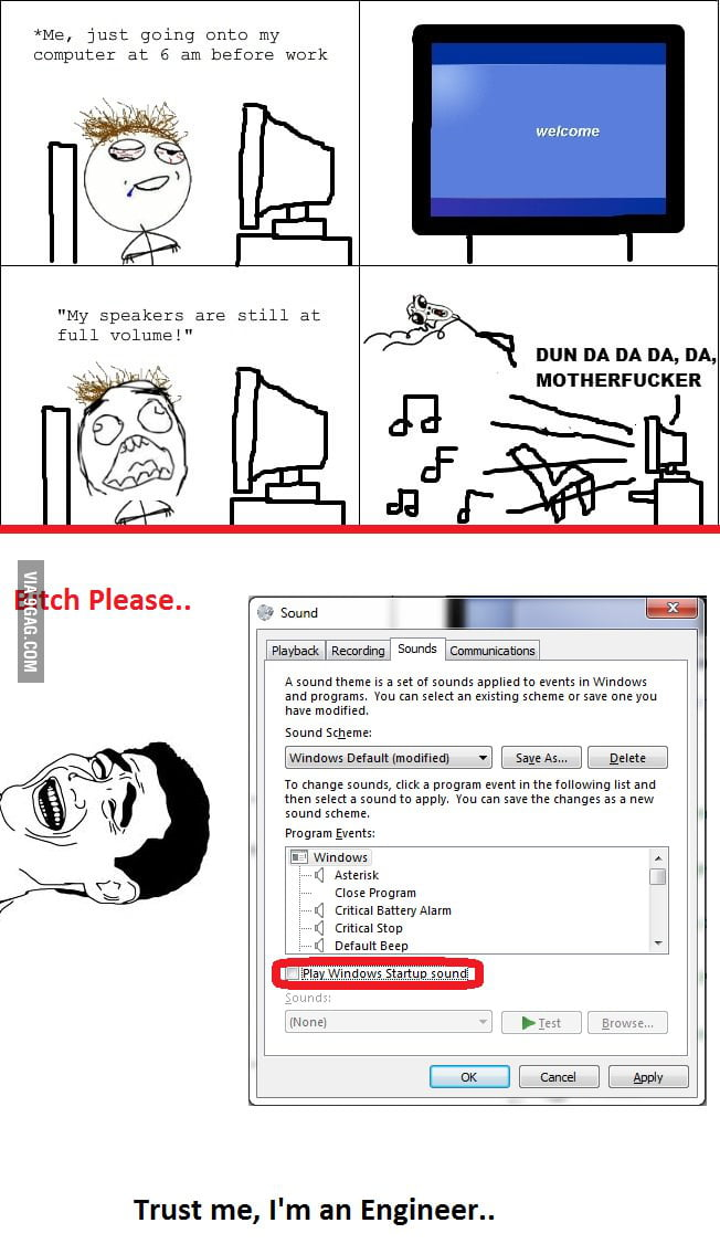 Windows Startup Sound : B*tch Please - 9GAG