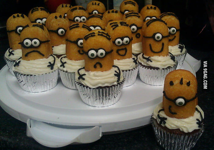 Homemade Despicable Me Cupcakes