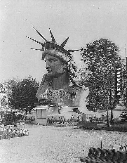 Statue of Liberty's Head in Paris 1878