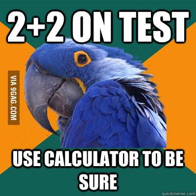 Paranoid Parrot doing maths