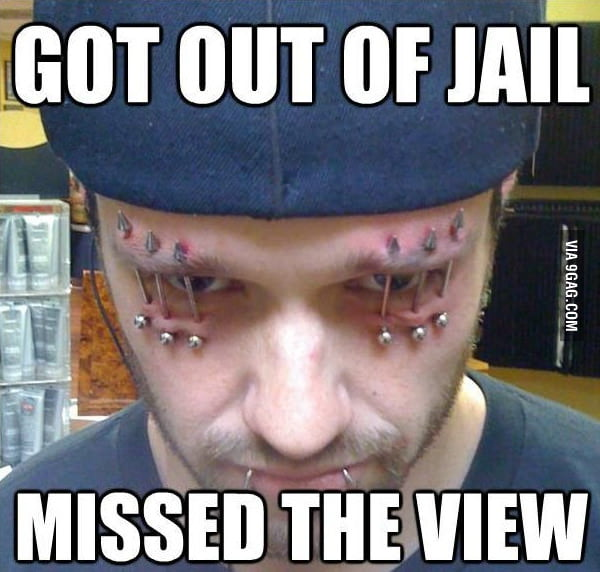 He probably misses the jail view.