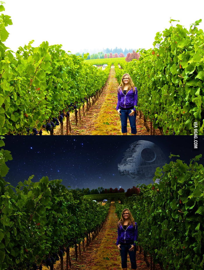 How to darken a pic in Photoshop.