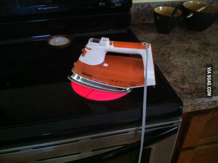 My dad's solution when his iron stopped working.