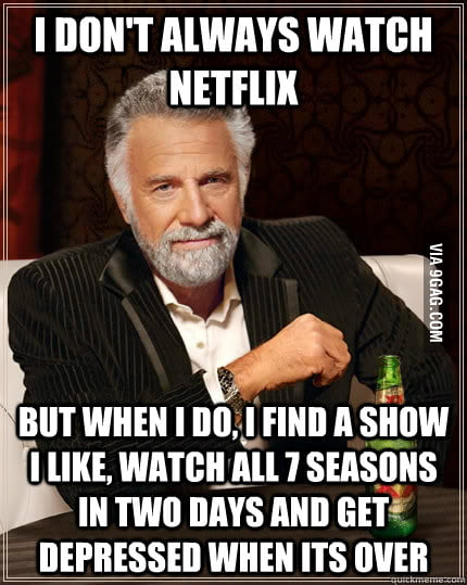 I don't always watch Netflix, but when I do...