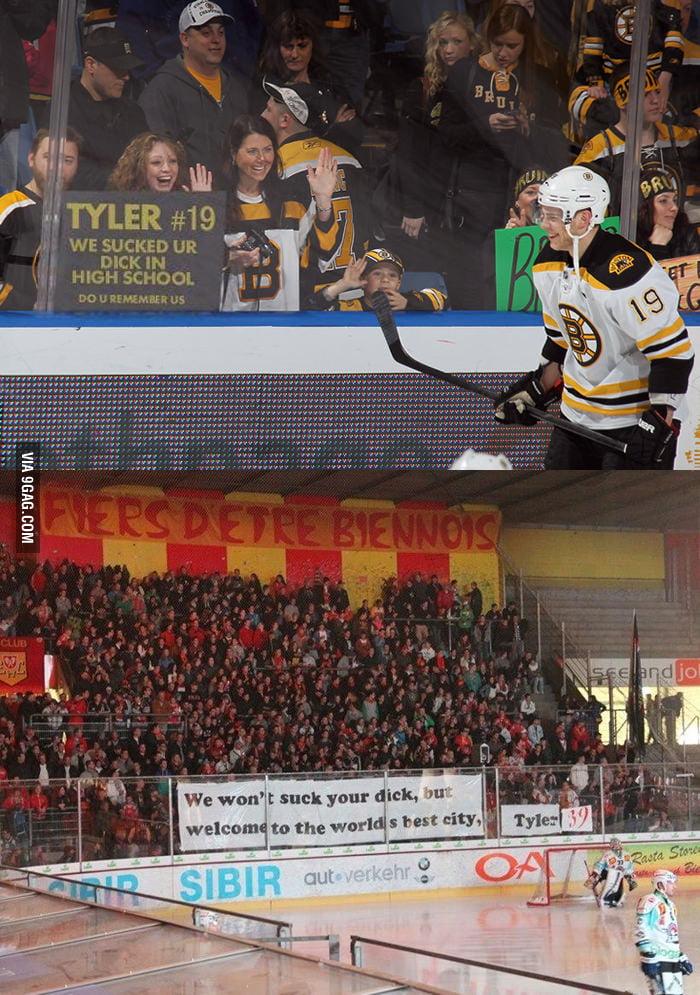 Tyler Seguin got a new fan poster at EHC Biel, Switzerland