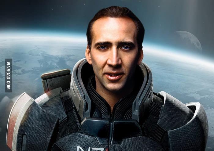 Nicolas Cage as Commander Shepard