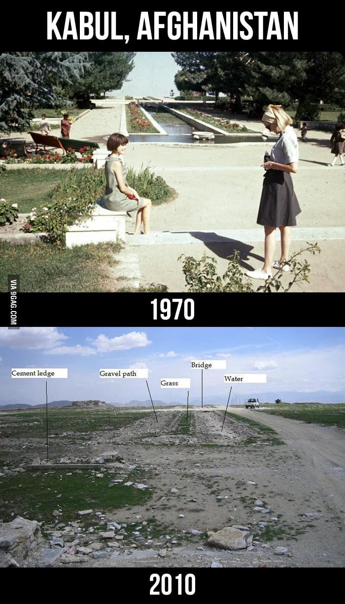 Kabul, Afghanistan: 1970 vs 2010
