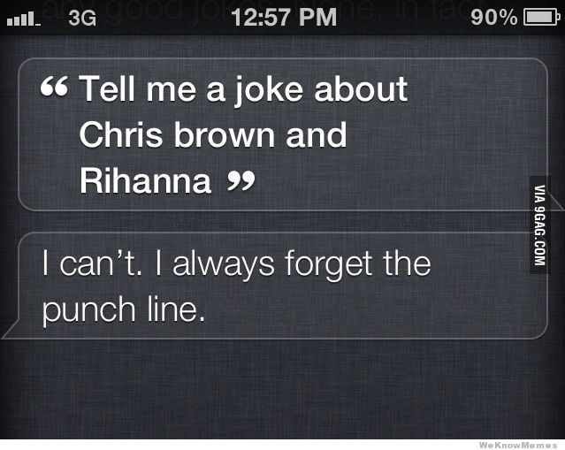 Siri, tell me a joke about Chris Brown and Rihanna.