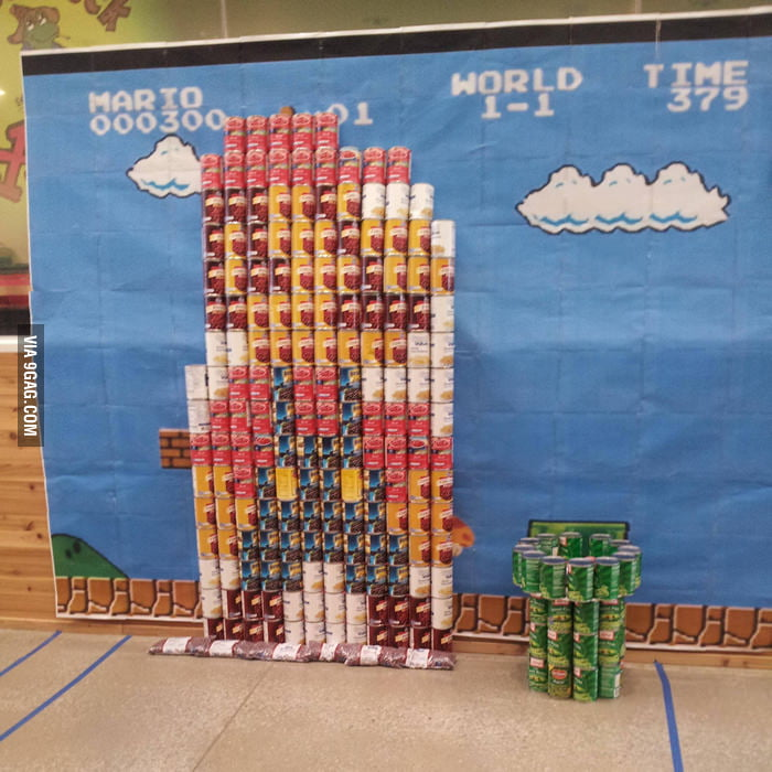 Mario made by cans.
