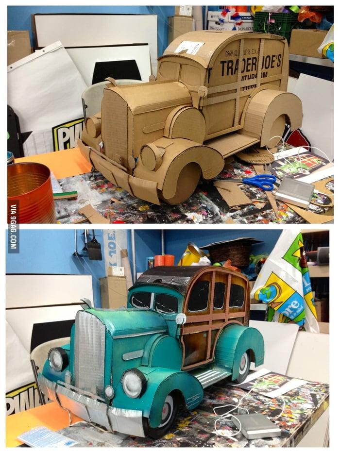 Cardboard Station Wagon