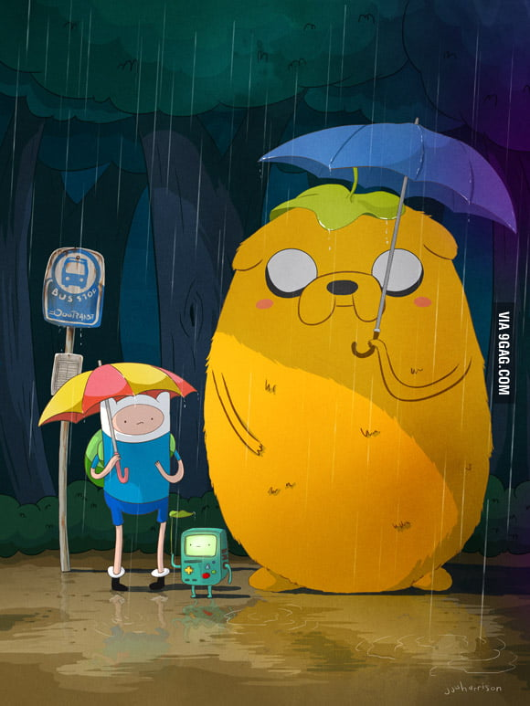 Adventure Time x My Neighbor Totoro