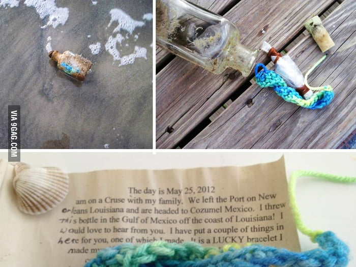 Message in a bottle found on the beach
