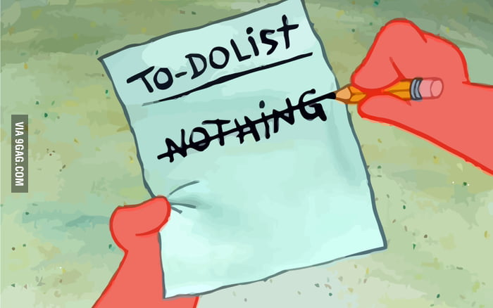 My to-do list on Friday.