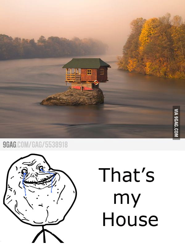 Alone at summer house