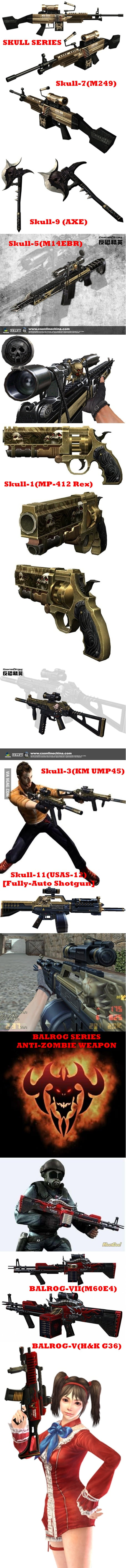 Anti-Zombie Weapon in Counter-Strike Online